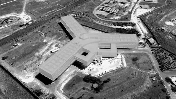 Saydnaya prison, as reconstructed by Forensic Architecture using architectural and acoustic modeling (2016) (courtesy Forensic Architecture)