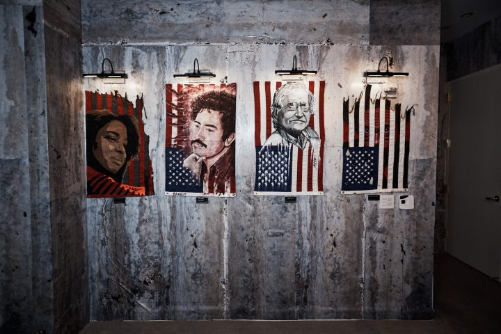 """Installation view of Indecline's """"The People's Prison"""" (2018) at the Trump International Hotel & Tower"""