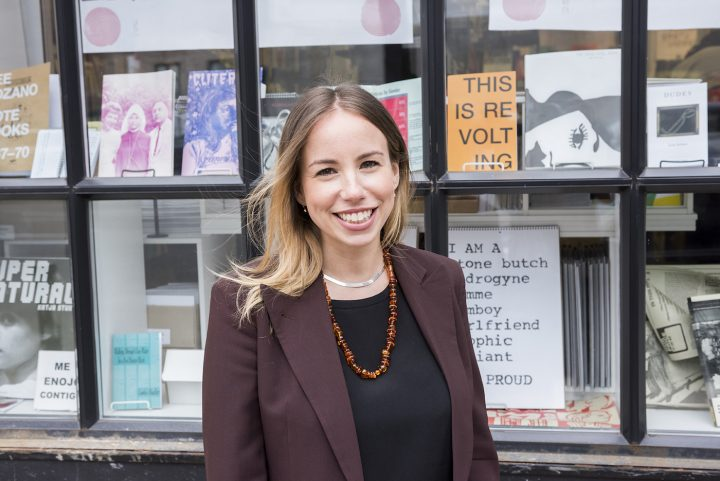 Sonel Breslav, Printed Matter's new Director of Fairs and Editions (photo by Azikiwe Mohammed, courtesy Printed Matter)