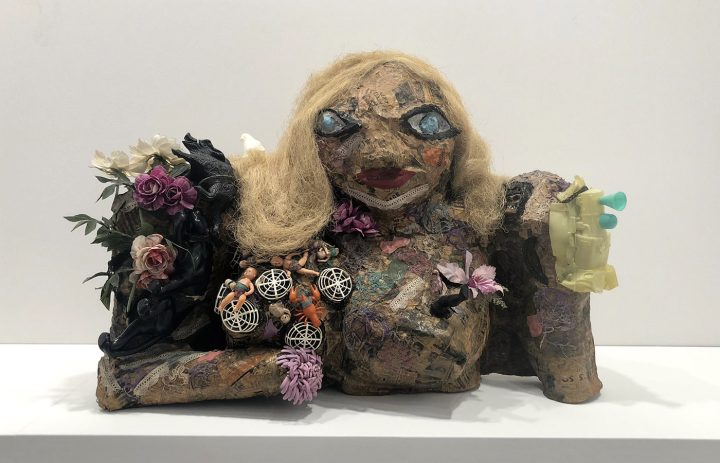 """Niki de Saint Phalle's """"Marilyn"""" in the Galerie Georges-Philipe booth at TEFAF New York"""