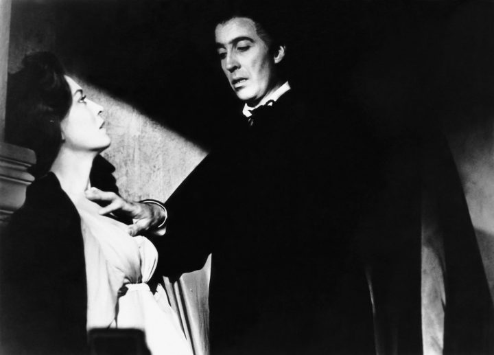 Dracula: Prince of Darkness, from left: Barbara Shelley, Christopher Lee (1966) (trademark and copyright © 20th Century Fox Film Corp; all rights reserved; courtesy the Everett Collection)