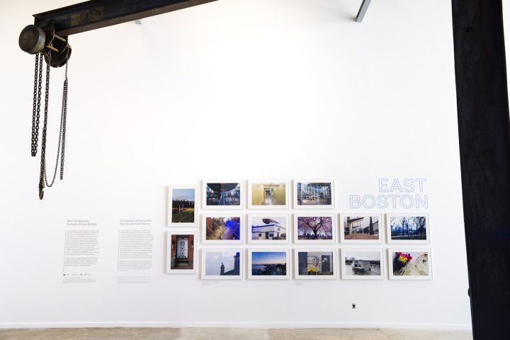 Installation view of Teen Perspective: Portraits of East Boston at the ICA Watershed (photo by Liza Voll Photography)