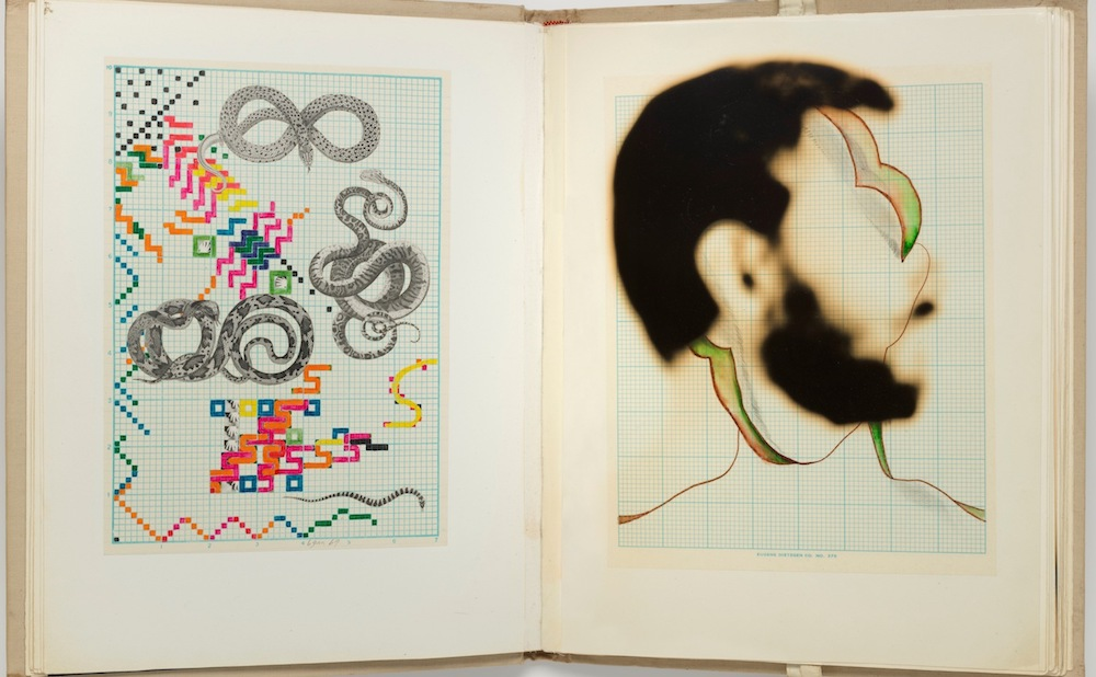 """Keith Smith, """"Book Number 11, Up"""" (1969), artist's book with photographs, drawings, prints, and transparencies (courtesy of Bruce Silverstein Gallery, New York; © Keith Smith)"""
