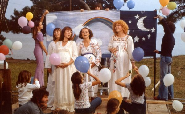 The Orchidée trio featuring Valérie Mairesse (far right) in One Sings, the Other Doesn't (Agnès Varda, 1977)