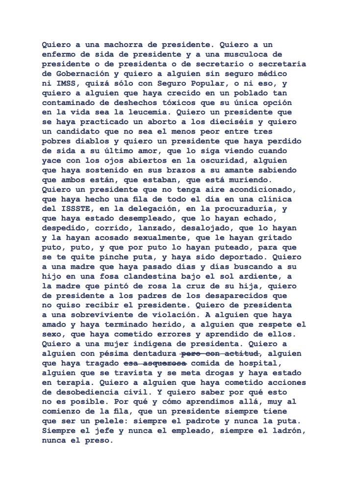 """Luis Felipe Fabre, """"Quiero un Presidente"""" (2018) (courtesy Luis Felipe Fabre)"""