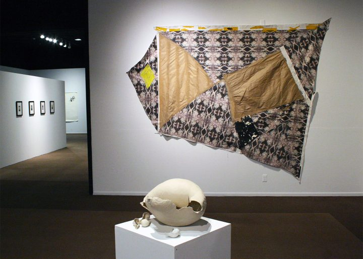 Installation view of the SoCal MFA 2018 exhibition (all photos by the author for Hyperallergic)