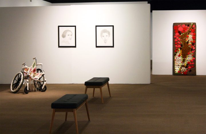Installation view of the SoCal MFA 2018 exhibition