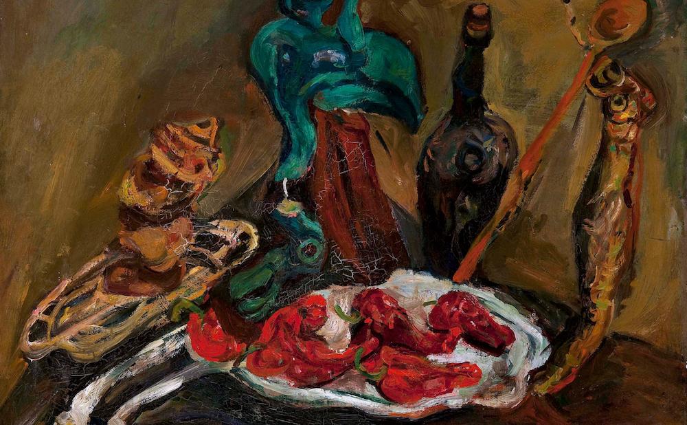 "Chaim Soutine, ""Fish, Peppers, Onions"" (ca 1919), oil on canvas (courtesy Barnes Foundation, Philadelphia, Pennsylvania)"