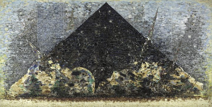 """Jack Whitten, """"9.11.01."""" (2006), the Baltimore Museum of Art, purchase by exchange with funds provided by the Pearlstone Family Fund and through a partial gift of The Andy Warhol Foundation for the Visual Arts, Inc. (courtesy the Baltimore Museum of Art)"""