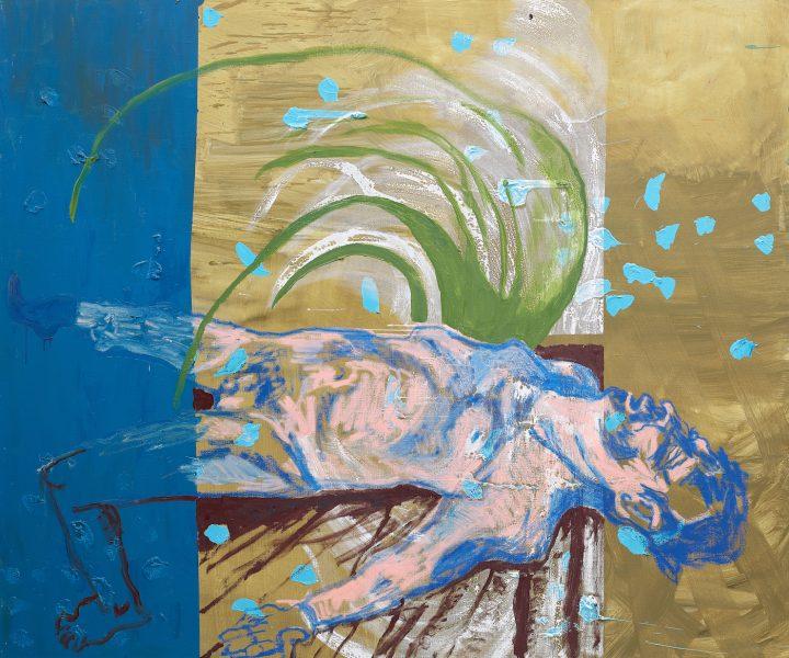 "Martin Kippenberger, ""Ohne Titel (aus der Serie Das Floß der Medusa)"" (1996), sold for £8,446,500 at Phillips (image courtesy of Phillips)"