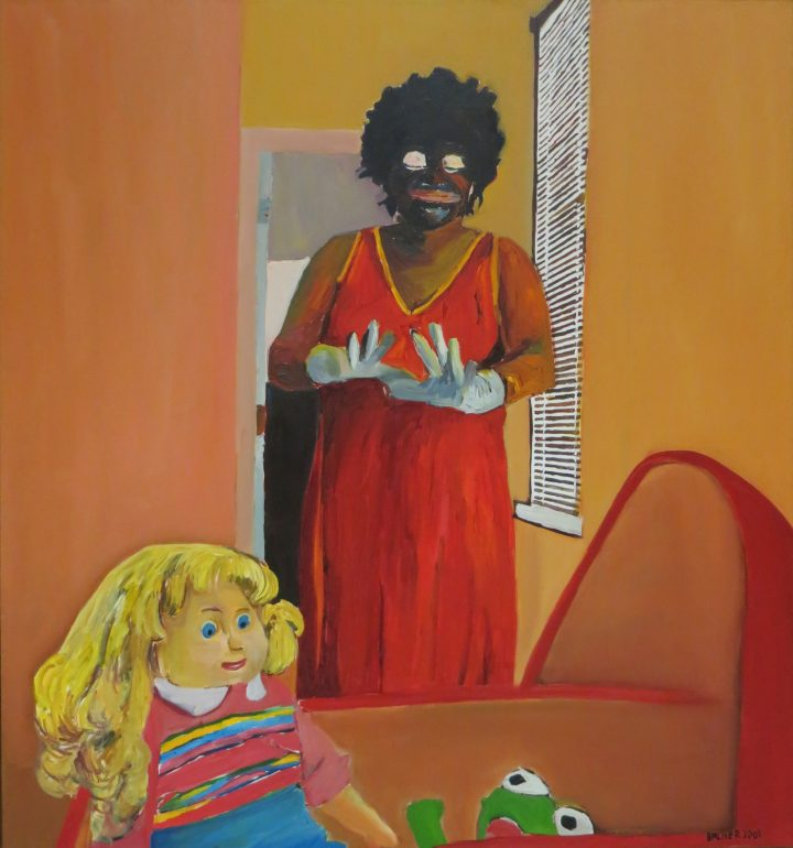 """Beverly McIver, """"Oh, Happy Day"""" (2001), oil on canvas, 52 x 48 in, Weatherspoon Art Museum, gift of Douglas and Nicole Walla, 2017 (image courtesy the Weatherspoon Art Museum)"""