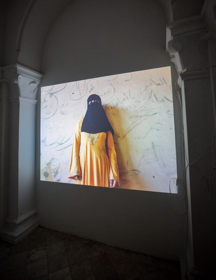 """Jessy Moussallem, """"Untitled"""" video projection (photo by Wassim Griman for the Kamel Lazaar Foundation)"""