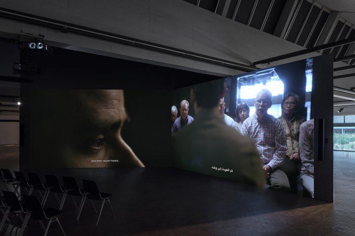 "Mario Pfeifer, ""Again Noch einmal"" (2018), installation view (photo by Timo Ohler)"