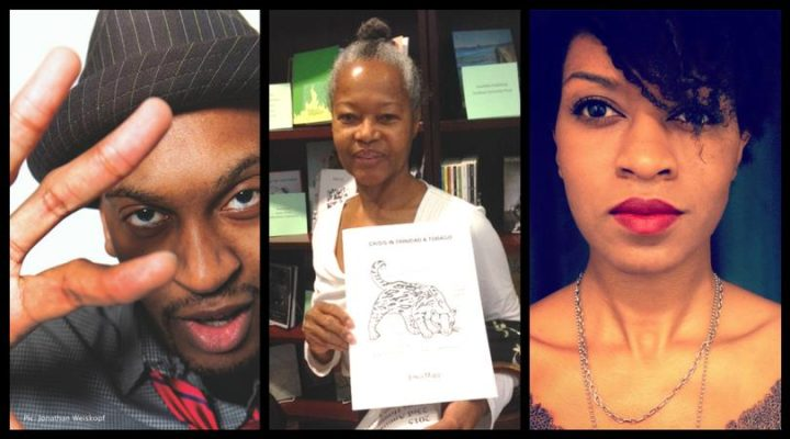Rico Frederick, Erica Mapp, and Camille Rankine (image via Cave Canem's Facebook event page)