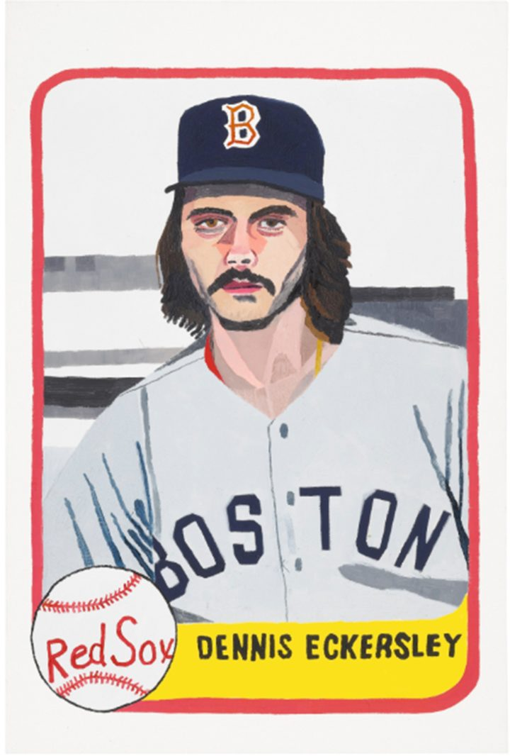 """Jonas Wood, """"Eckersley"""" (2010), oil on canvas; signed, titled, and dated """"2010"""" on the reverse 36 by 24 in. (image courtesy of Sotheby's)"""