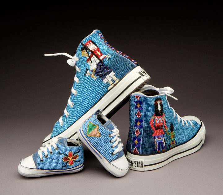 """""""Shoes, Two Pairs"""" by Teri Greeves in the collection at the School for Advanced Research"""
