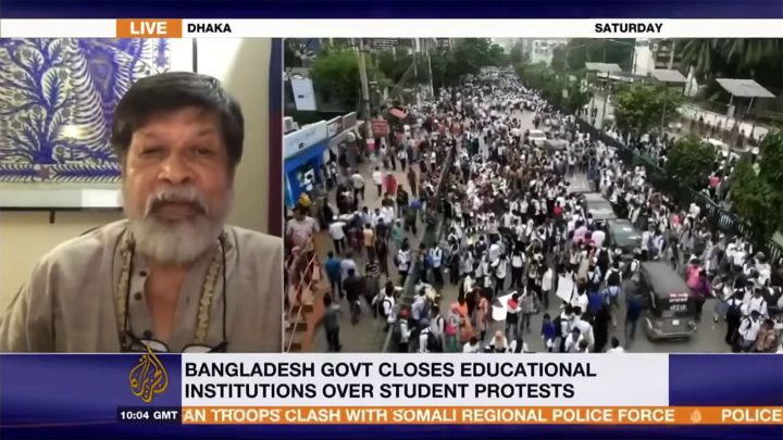 Shahidul Alam Discussing Student Led Protests In Al Jazeera Segment That Preceded His Arrest You Can Watch The Segment In Full On Youtube