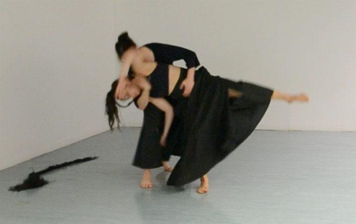 <em>Choreophobia</em> rehearsal (image courtesy of Lilian Nejatpour)