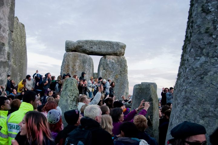 Stonehenge Summer Solstice party (2010) (photo by Ann Wuyts, image via Flickr)