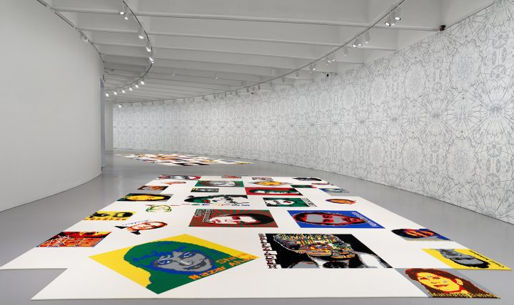 """Ai Weiwei, installation view of """"Trace"""" at the Hirshhorn Museum and Sculpture Garden (2017) (photo by Cathy Carver, image courtesy Hirshhorn Museum and Sculpture Garden)"""