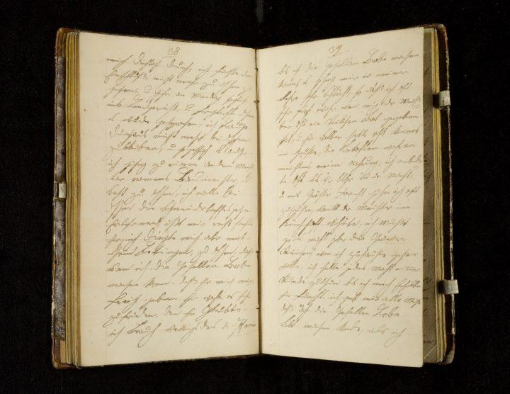 Lazarus Morgenthau's diary (image courtesy the Leo Baeck Institute)