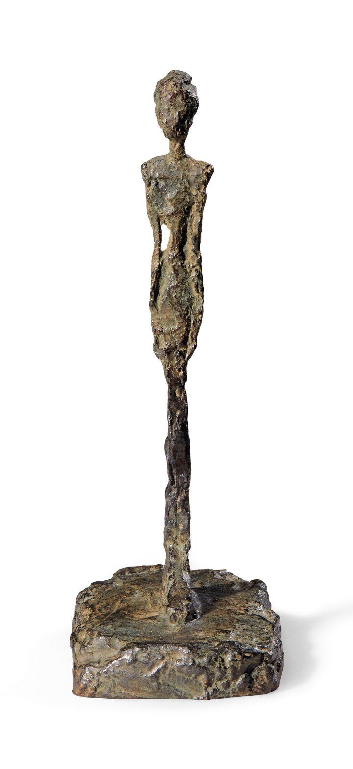"""Alberto Giacometti, """"Figurine de Londres I"""" (1965) (image courtesy Chiristie's)"""