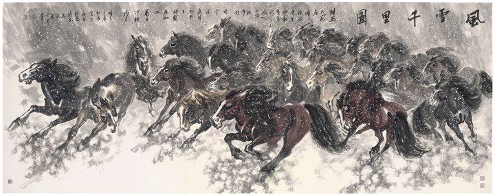 "Ma Xinle, ""Horses"" (2012) (image courtesy Christie's)"