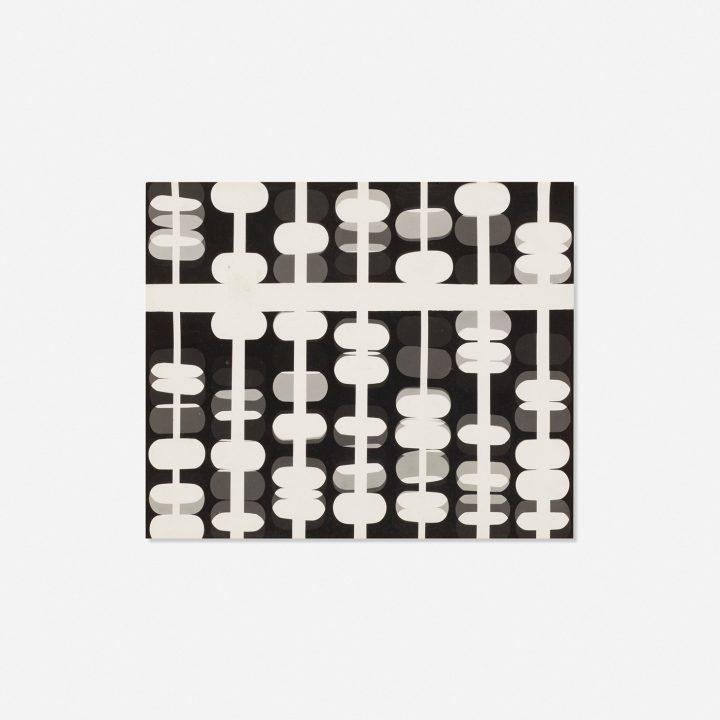"""Paul Rand, """"Untitled"""" (1947), photogram, 6 1/4 x 7 1/2 inches (image courtesy Wright)"""
