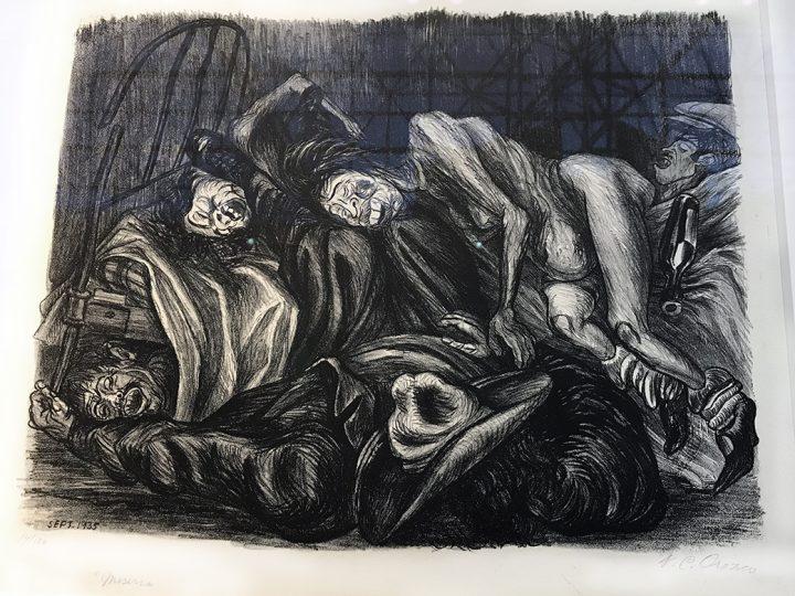 """José Clemente Orozco, """"Brothel"""" (1935)"""