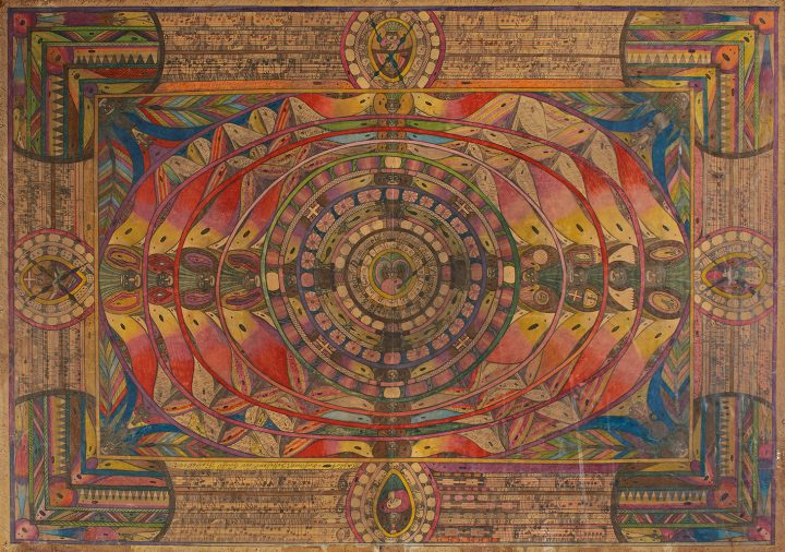 """Adolf Wölfli, """"Der San Savathor"""" (1926), graphite, colored pencil and crayon on paper, 58 1/2 x 83 inches (image courtesy Sotheby's)"""
