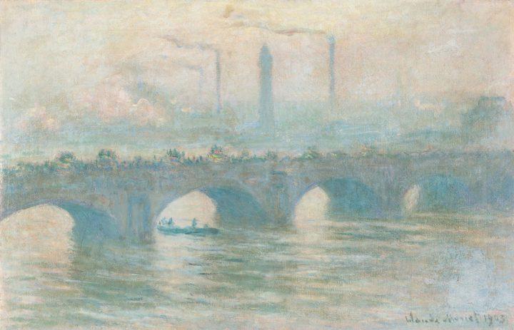 """Claude Monet, """"Waterloo Bridge"""" (1903), oil on canvas, lined, 65 × 101.5 cm. (image courtesy Kunstmuseum Bern, phot by David Ertl, © Kunst- und Ausstellungshalle der Bundesrepublik Deutschland GmbH)"""