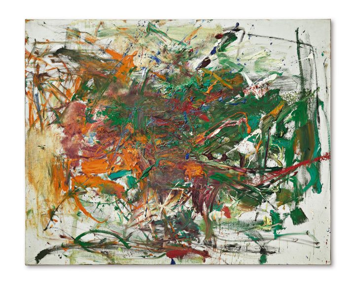 """Joan Mitchell, """"Syrtis"""" (1961), oil on canvas, 51⅛ x 63¾ inches (image courtesy Sotheby's)"""