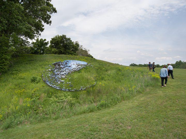 """Sarah Sze, rendering of """"Fallen Sky"""" (2020) (© Sarah Sze, image courtesy Storm King Art Center)"""