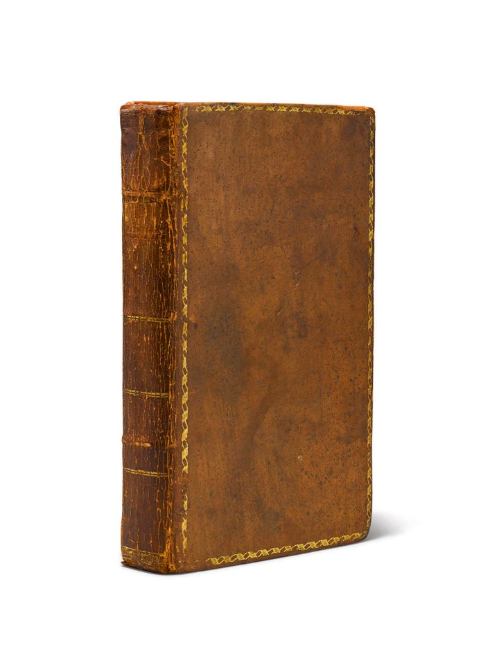 Thomas Jefferson, Notes on the State of Virginia; written in the year 1781. somewhat corrected and enlarged in the winter of 1782, for the use of a foreigner of distinction, in answer to certain queries proposed by him [Paris: for the author by Philippe-Denis Pierres] (1782) (image courtesy Sotheby's)