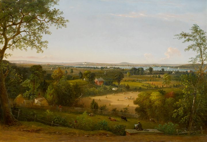 """William MacLeod, """"View of the City of Washington From the Ancostia Shore"""" (1856), oil on canvas, 37 x 53 inches (image courtesy Sotheby's)"""