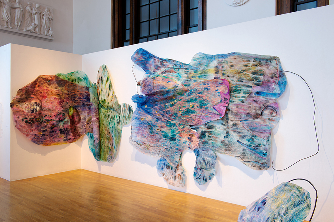 Mahima Kapoor's MFA Thesis Exhibition at Mass College of Art's Paine Gallery in May 2018. Image: Eduardo L. Rivera.
