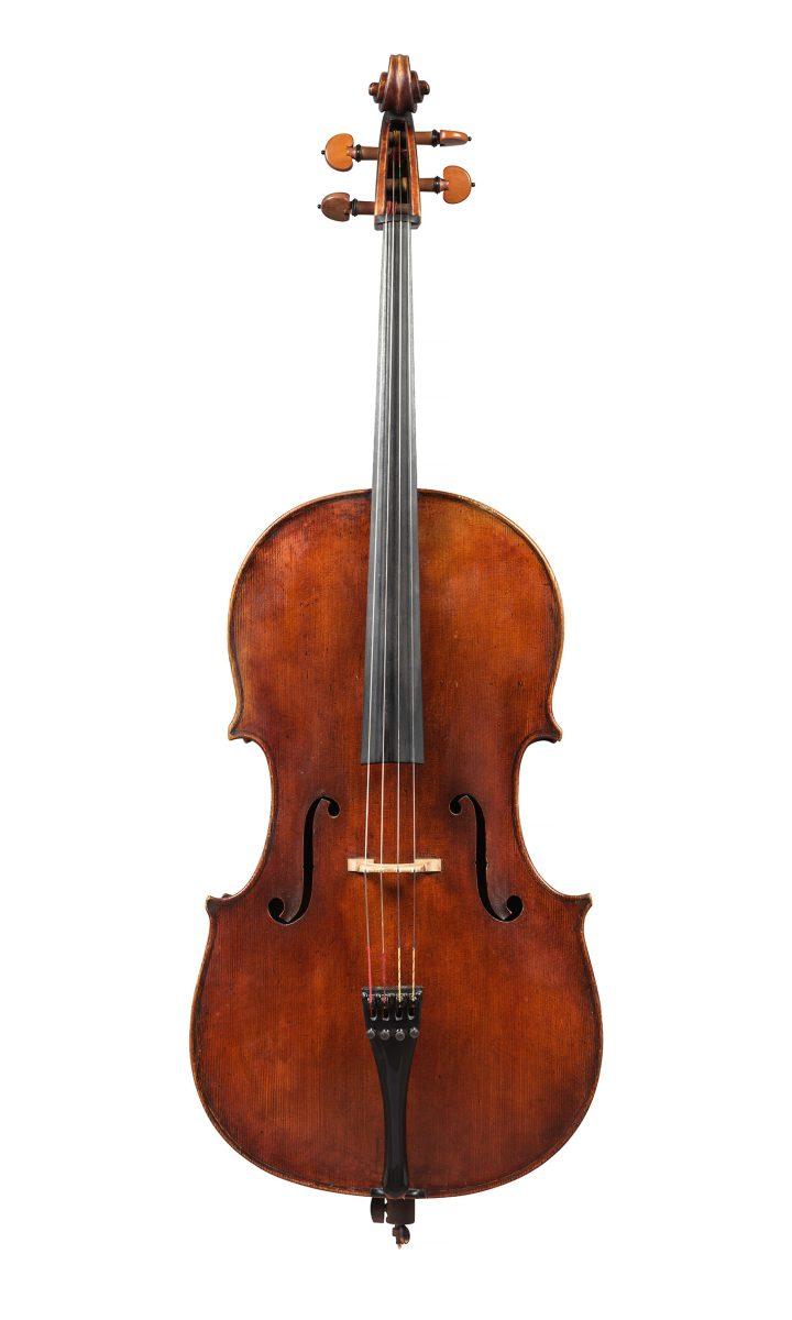 "Giovanni Battista Guadagnini, ""A Cello, Turin"" (1783), length of back 28 1/8 inches (image courtesy Sotheby's)"
