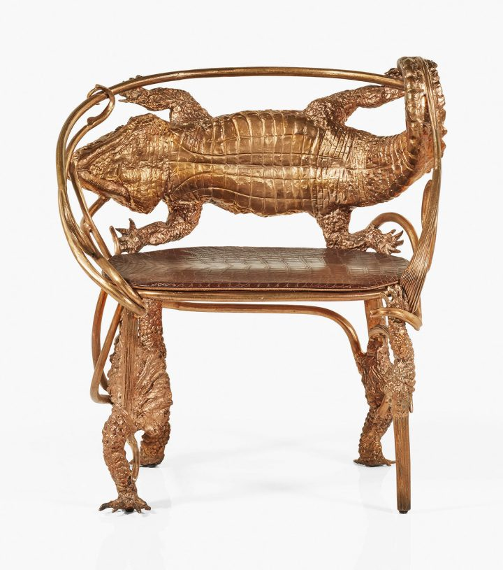"Claude Lalanne, armchair, ""Crocodile,"" model created in 2014, this achieved in 2016 (image courtesy Christie's)"