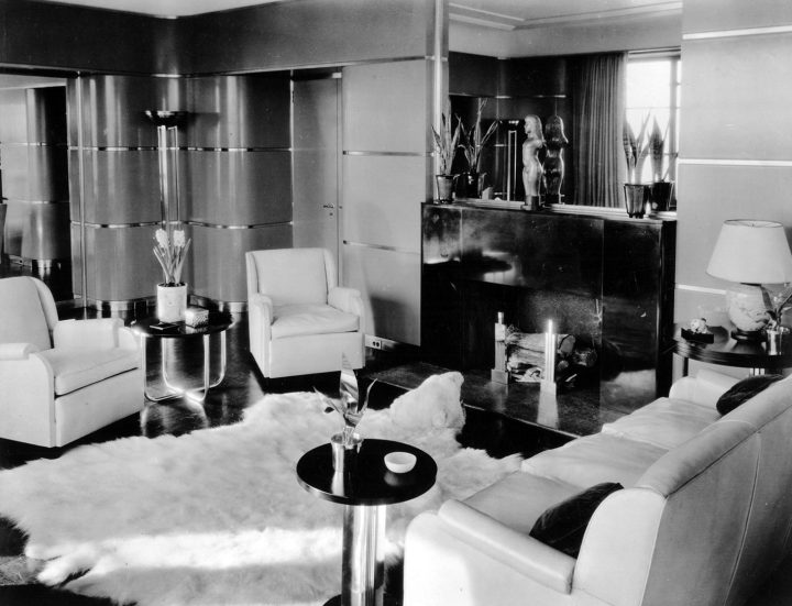 Donald Deskey, living room for Mr. and Mrs. Frederick Patterson, River House, New York City, 1931 (image courtesy Cooper Hewitt, Smithsonian Design Museum)