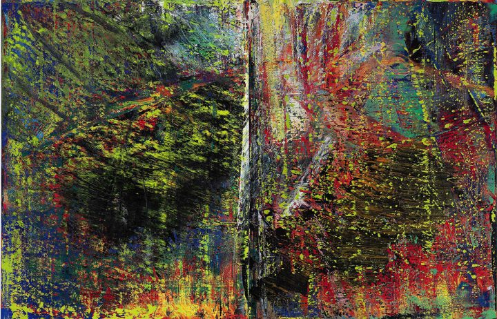 "Gerhard Richter, ""Abstraktes Bild"" (1987), oil on canvas, 2 panels, each: 102 3/8 x 78 7/8 inches, overall: 102 3/8 x 157 3/4 inches (images courtesy Sotheby's)"