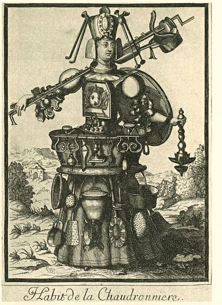"""Nicolas I de Larmessin, """"Costume of the Boilermaker"""" (c. 1690s) (image courtesy The Getty Research Institute, 2018, gift of Anne Willan and Mark Cherniavsky)"""