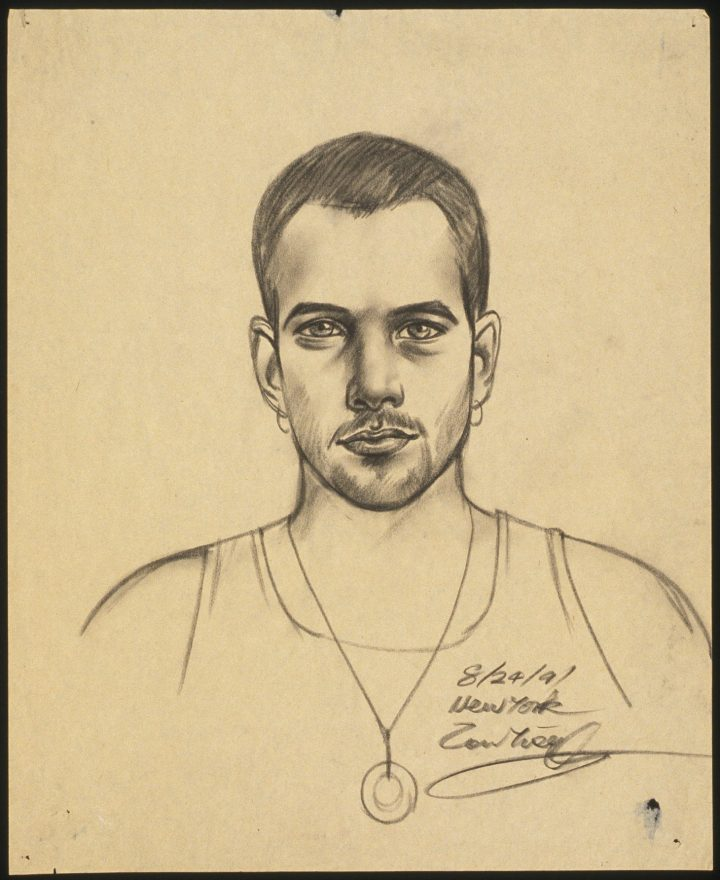 """Robert Blanchon, """"Untitled (self-portrait)"""" (1991) (all images courtesy the estate of Robert Blanchon)"""