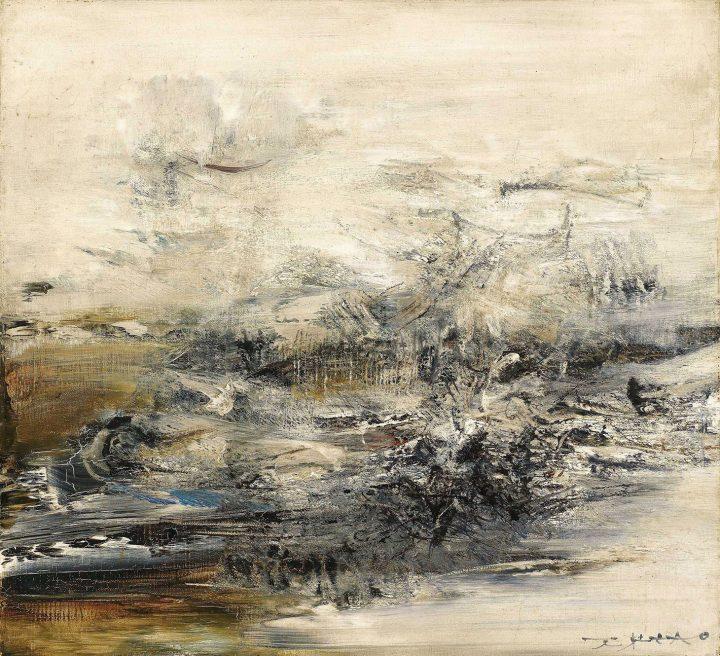"Zao Wou-Ki, ""05.04.63"" (1963), oil on canvas, 18 1/8 x 19 5/8 inches (image courtesy Christie's)"