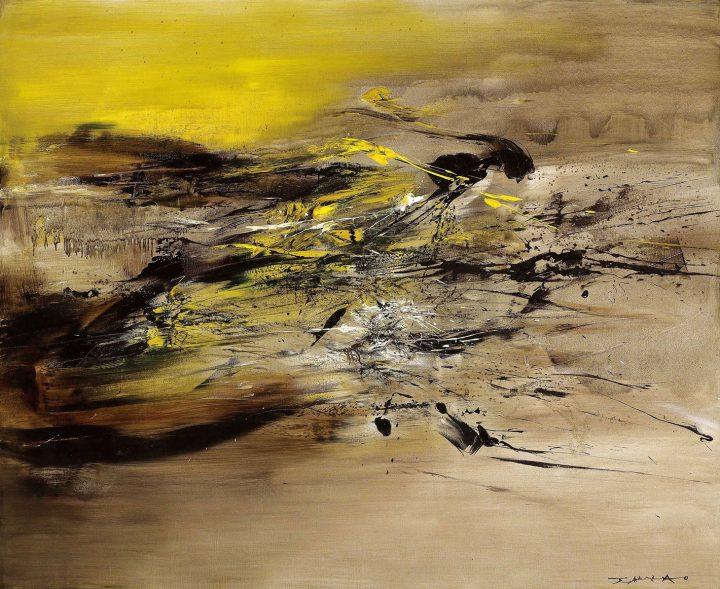 "Zao Wou-Ki, ""22.07.64"" (1964), oil on canvas, 63 1/2 x 78 1/2 inches (image courtesy Christie's)"