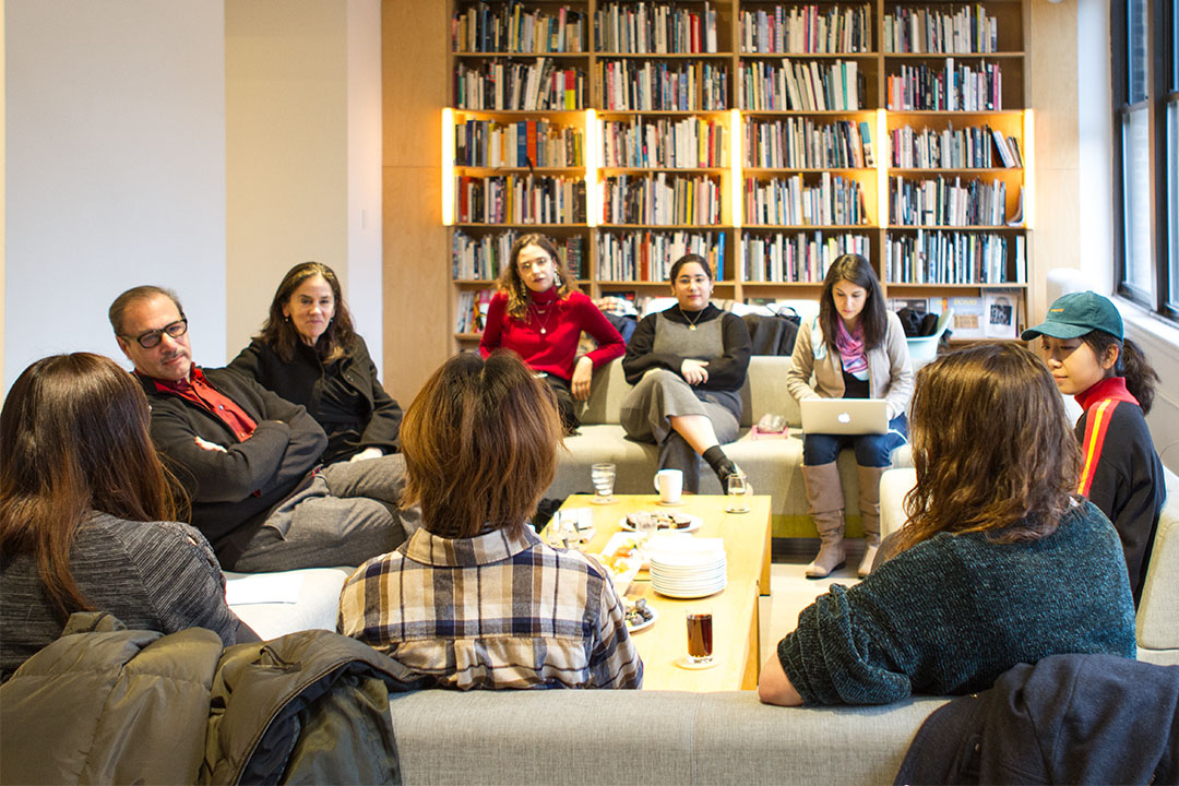 Connie Butler, Chief Curator at the Hammer Museum, Los Angeles, speaking with SVA MA Curatorial Practice students during the Curatorial Roundtable. Image courtesy, SVA MA Curatorial Practice.