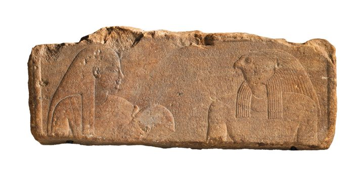 An Egyptian quartzite relief, late period, 26th–30th Dynasty (c. 664–332 BCE), 25 1/8 inches (image courtesy Christie's)