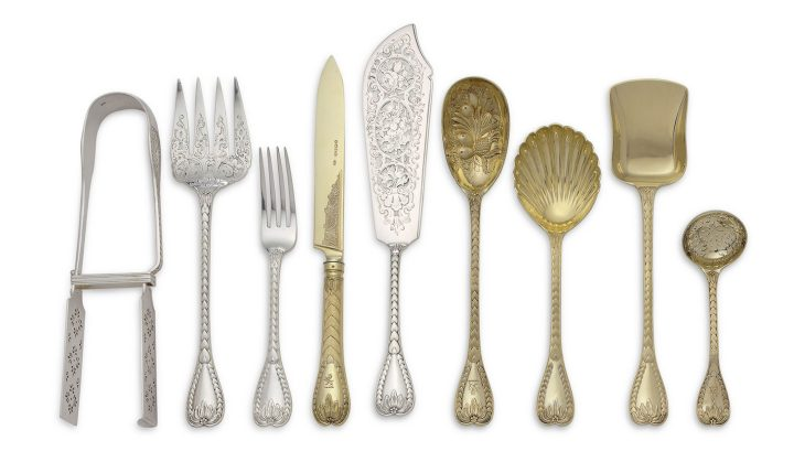 A Victorian silver and silver-gilt part flatware service, most mark of George Adams, London, 1865–75 (image courtesy Christie's)
