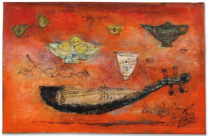 "Zao Wou Ki, ""Bonne année"" (1953), oil on canvas, 25 5/8 x 39 3/8 inches (image courtesy Christie's)"