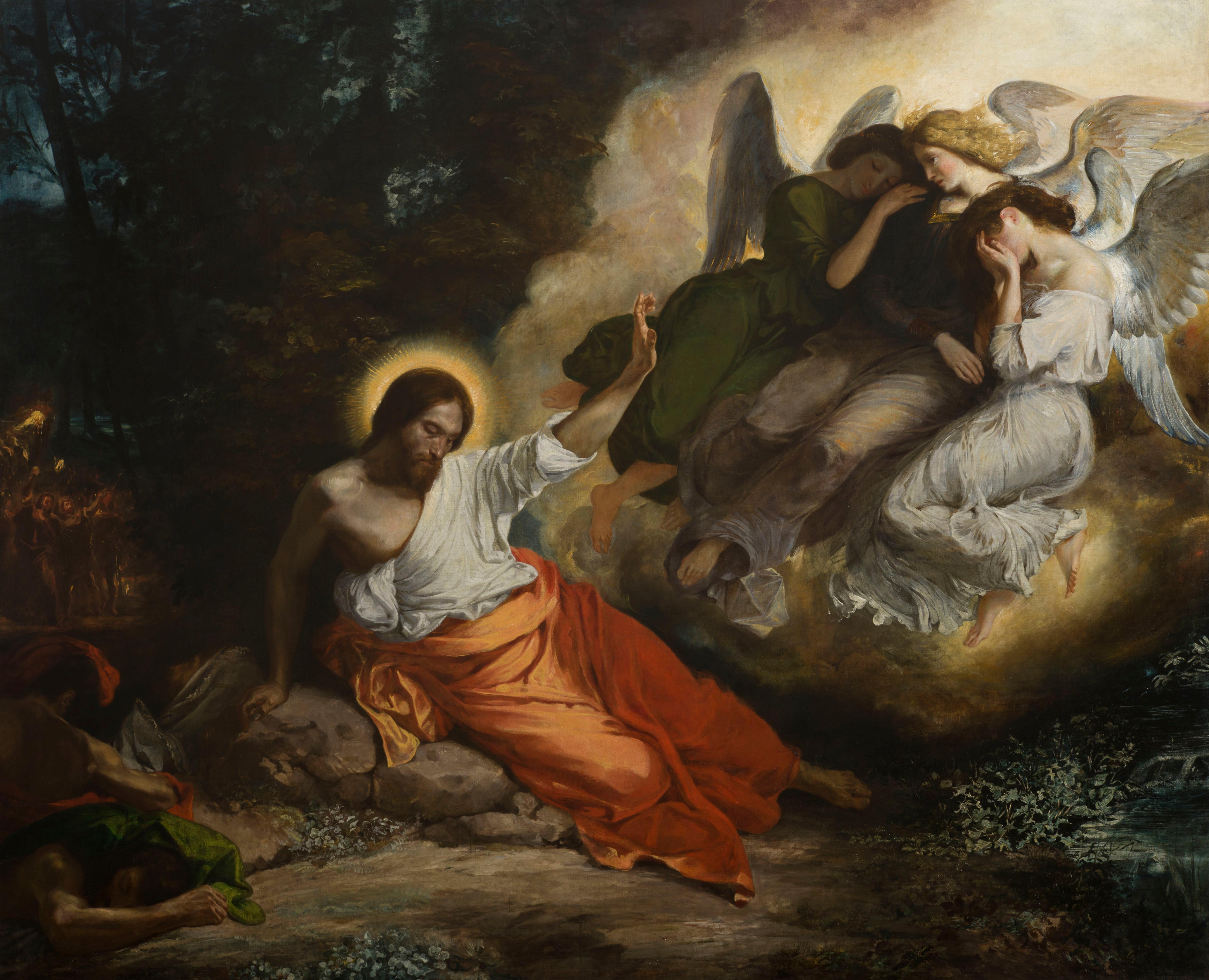 Amabis proximum tuum - Tu aimeras ta prochaine - Page 3 Delacroix-Christ-in-the-Garden-of-Olives-1824–1827