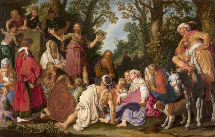 """Pieter Lastman, """"De prediking van Johannes de Doper [St John the Baptist Preaching]"""" (1627), 60 x 92 cm (image courtesy Schilderij and Mauritshuis)"""